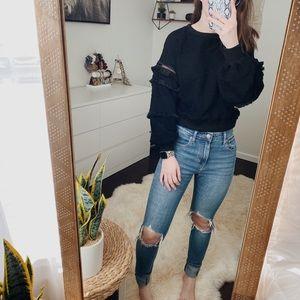VICI Black Fringe Sweater